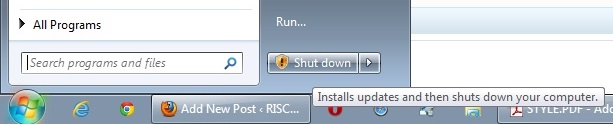 Microsoft Windows shutdown procedure