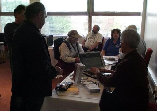 Jim Nagel selling Archive magazine