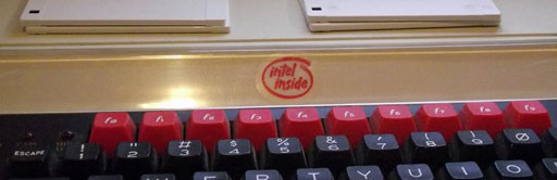 A sticker that colour matches the BBC function keys