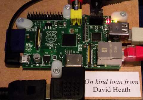 Raspberry Pi on loan to CJE Micro's at the 2012 Wakefield Show