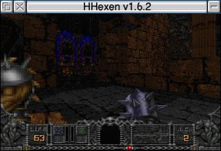 Hhexen playing in a window on an IYONIX pc
