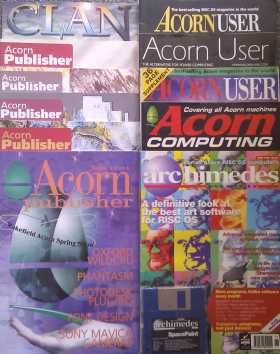 A selection of old Acorn magazines