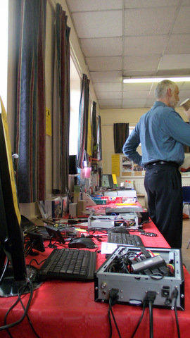 CJE's stand, with a Raspberry Pi based prototype at this end