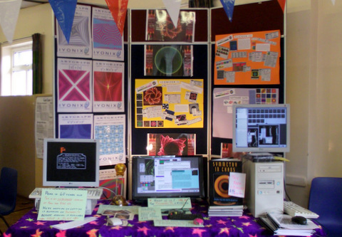 The MathMagical Software Company's colourful stand