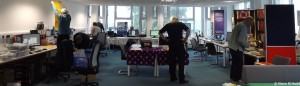 Setting up at the RISC OS Portsmouth Show, 2013