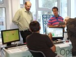 Ben Avison manning the RISC OS Open stand
