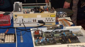 A Domesday System, mid-repair, on Jason Flynn's stand