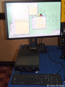 A Raspberry-RO running on CJE Micro's stand