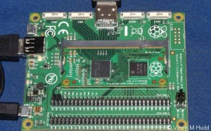 The Raspberry Pi Compute Module in the Foundation's own IO Board