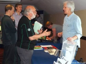 Archive's Jim Nagel talking to a customer