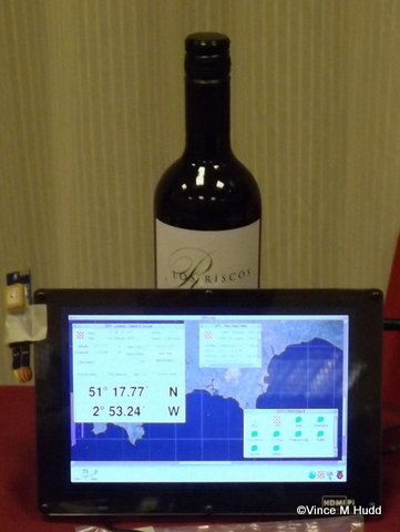 Martin Hansen's GPS system up and running, displaying the hotel's location at RISC OS Southwest 2015