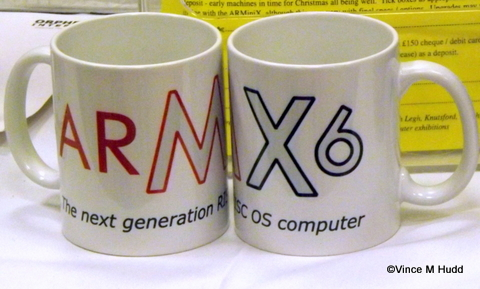 A right pair of mugs on the R-Comp stand at RISC OS Southwest 2015