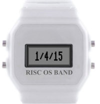 RISC OS Band set to display the date