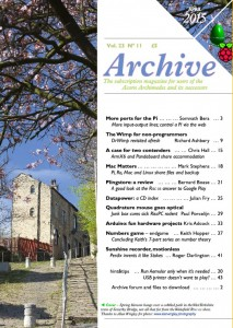 Archive 23:11 front cover - taken from archivemag.co.uk