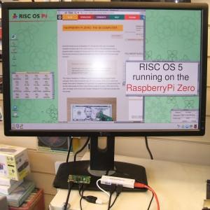 Chris Evans' photo of A Raspberry Pi Zero running RISC OS