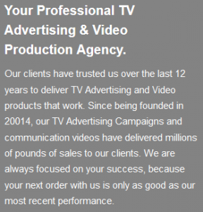 Concept Television Studios - founded in 20014, trading since 2004