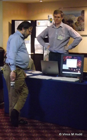 Richard Keefe talking to Chris Hall at Wakefield 2016
