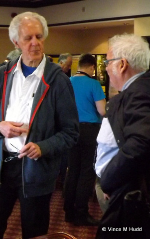 Jim Nagel chatting to Ron Briscoe at Wakefield 2016
