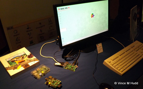 RISC OS on a Raspberry Pi 3 on the ROOL stand at Wakefield 2016