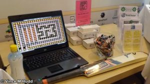 Old games, RiscPiC-mini cases, sweets, and a cricket bat - must be Soft Rock Software at London 2016