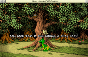 Playing 'Dragon History' in ScummVM on RISC OS