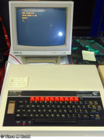 A BBC Micro on the charity stand at Wakefield 2017