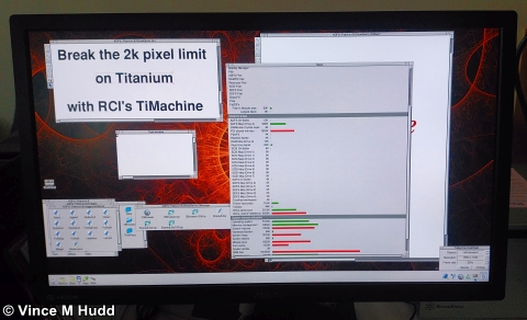 A TiMachine running at 2,560x1,440 pixels at London 2017