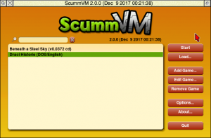 The ScummVM main window