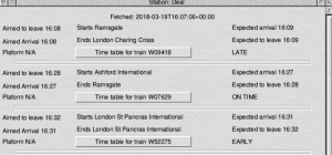 TrainTimes - image courtesy of Kevin Wells (Click to see a larger version)