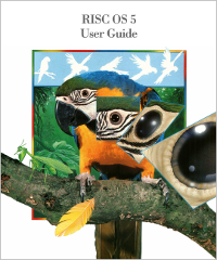RISC OS 5 User Guide front cover, courtesy of RISC OS Open Ltd