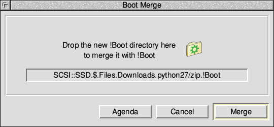 Installing the boot files using Boot Merge.