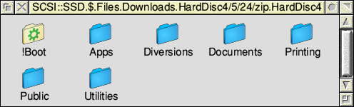 The contents of the HardDisc4 directory in the zip file.
