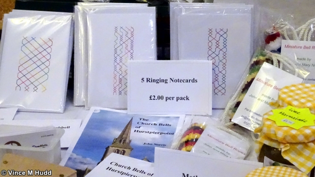 Ringing notecards and booklets on John Norris' stand at Southwest 2020