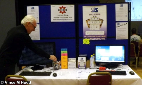Caught red handed - Nigel Willmott pilfering a sweet from the Soft Rock Software stand at Southwest 2018