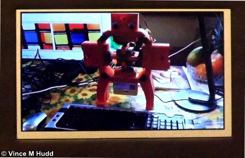 A Raspberry Pi-powered (IIRC) robot solving the Rubik's Cube - not at Southwest 2018, but John Norris showed me the video on the kit he had there