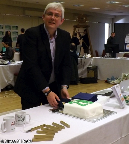 I know I said I wouldn't mention it again, but... Richard Brown cutting the cake at Southwest 2018