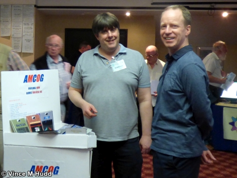 AMCOG's Tony Bartram with ROUGOL's Bryan Hogan at Wakefield 2018