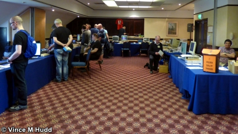 The Retro Room during a quiet moment at Wakefield 2018