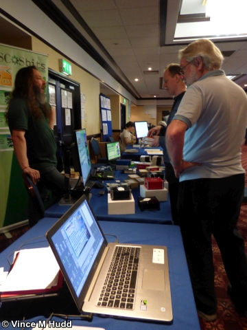 Looking down one side of the RISC OS Room from the MW Software stand at Wakefield 2018
