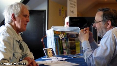 Jim Nagel talking to Chris Hall at Wakefield 2018