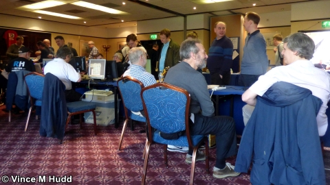 Busy in the Retro Room at Wakefield 2018
