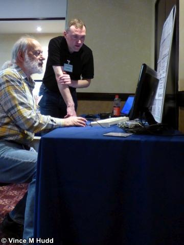 Steve Fryatt demonstrating his software at Wakefield 2018