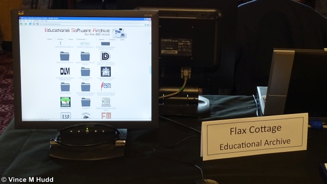 The Flax Cottage Educational Archive online via a Pi at Wakefield 2019